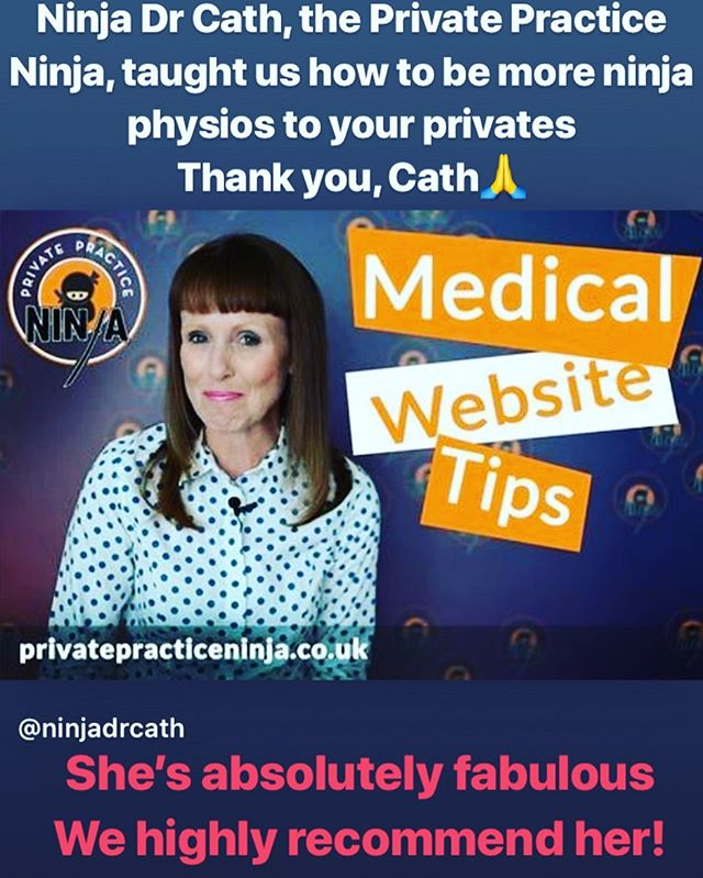 @sarahparkerphysio and I had the pleasure of having @ninjadrcath at our private practice. She gave us advice on marketing, business structure, pricing and dealing with insurance companies. We in private practice know how difficult that can be. Dr Cath has a wealth of wisdom and knows all the best consultants with whom she gladly linked us to expand our multidisciplinary team. Team @se1physio want the best for our patients so we are making work of all of these links and advice. 👍 Thank you, @ninjadrcath , we are blessed and grateful for you🙏 #privatepractice #physiotherapyclinic #multidisciplinaryteam