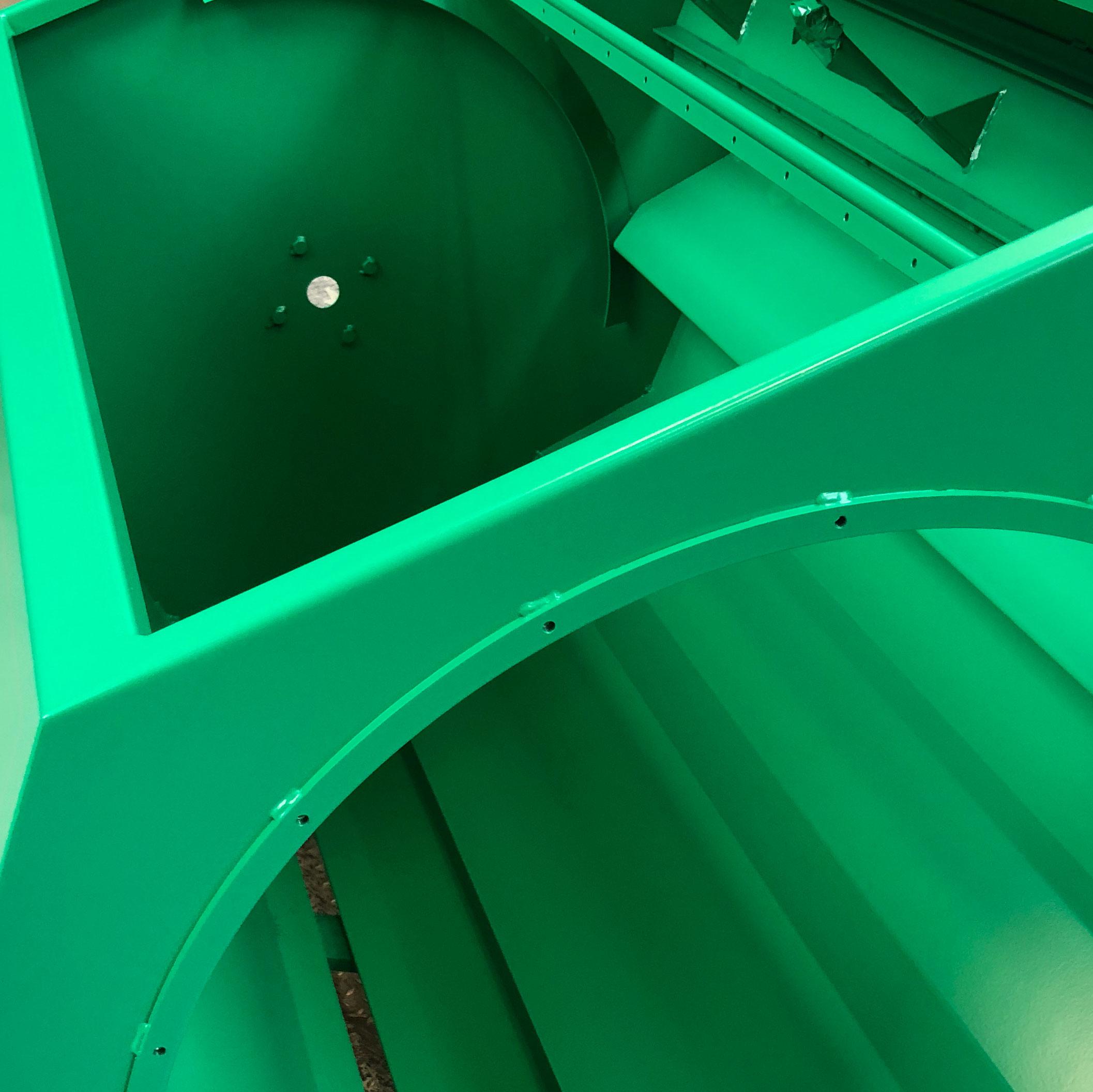 ....The switch to the well-known green colour of Westrup machines ..Passage à la couleur verte bien connue des machines Westrup ..Umstellung auf die typische grüne Farbe der Westrup-Maschinen .. 伟世卓  机器的颜色改为经典的绿色 ..Переход на хорошо известный зеленый цвет машин Westrup ....