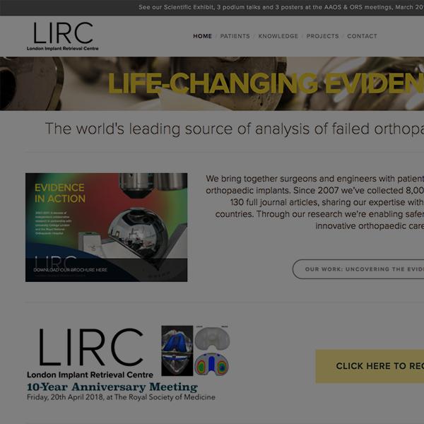 London Implant Retrieval Centre - www.lirc.co.uk