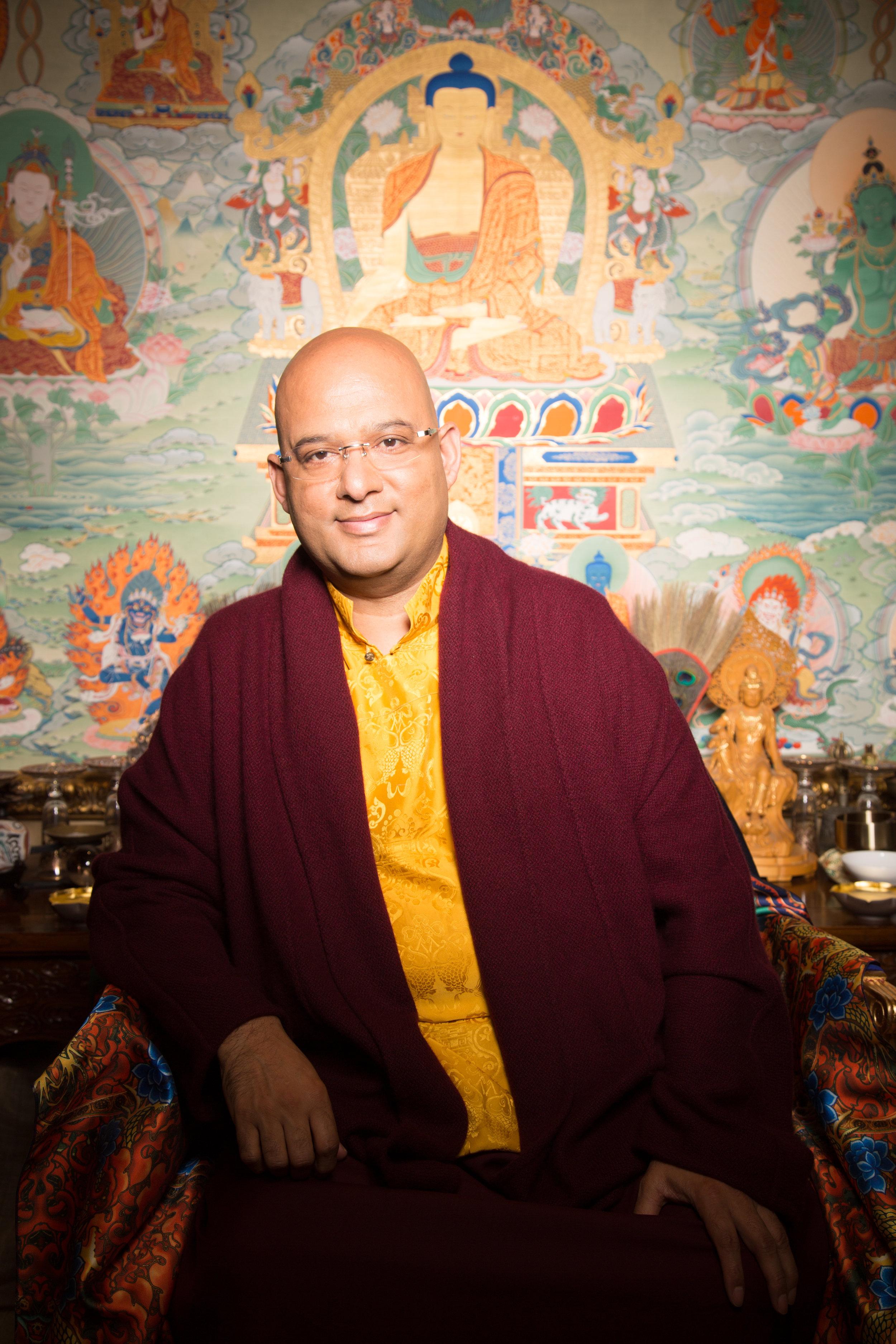 H.E. The 9th Kyabje Drukpa Choegon Rinpoche, Thutob Choekyi Wangchuk - the spiritual head of Dechen Choekhor and the supreme lineage holder of Drukpa Kargyu Lineage.