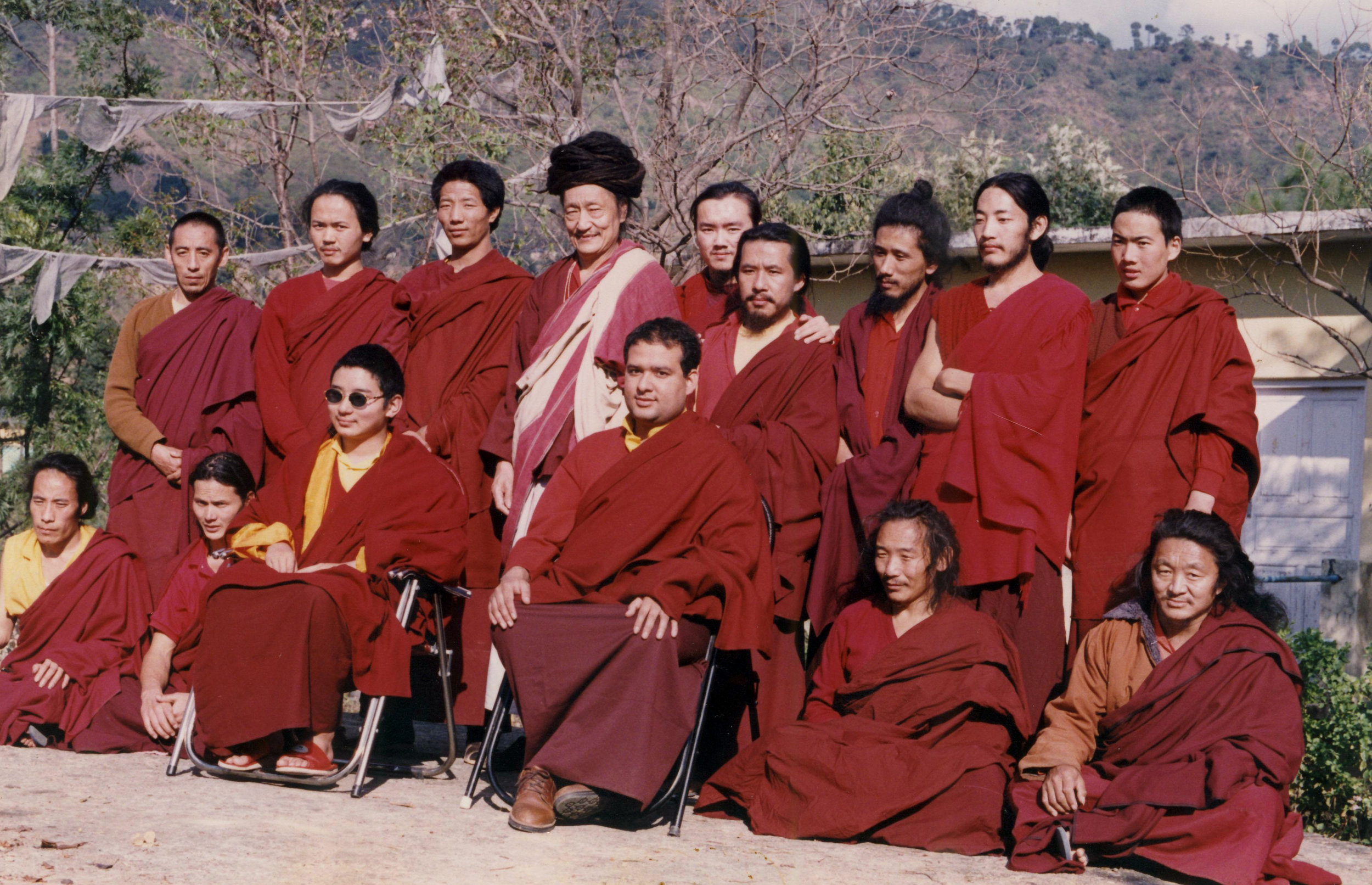 Choegon Rinpoche bestowing Dorje Palmo and Vajrayogini's initiation and instruction to the new yogis of Tashi Jong.