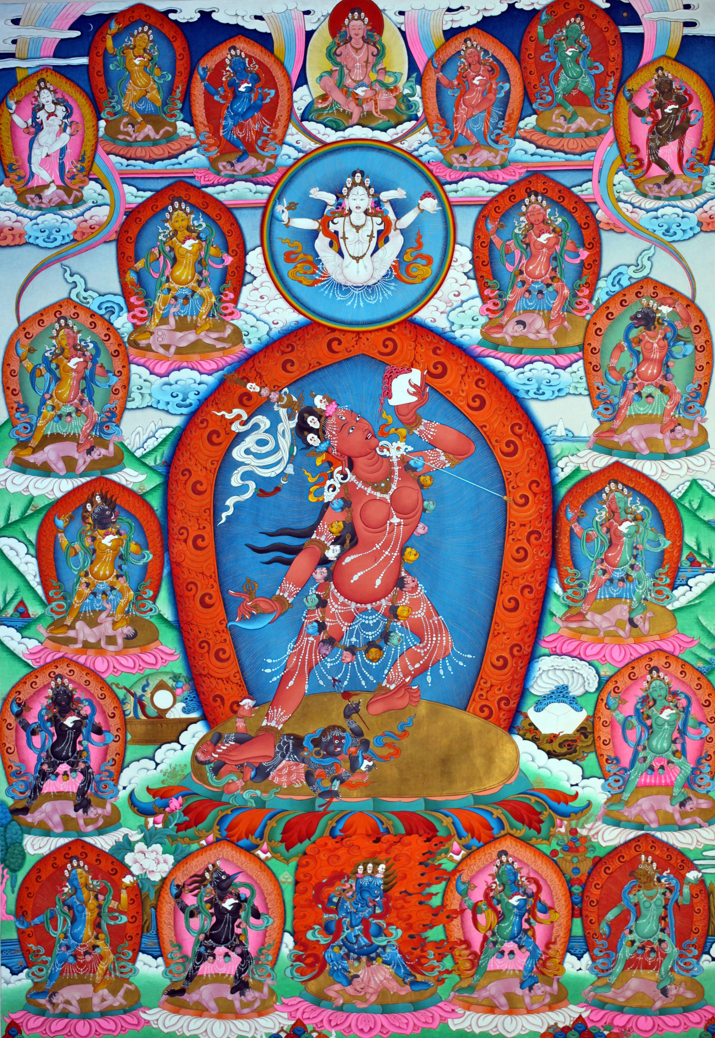 Dechen Choekhor Vajrayogini thangka