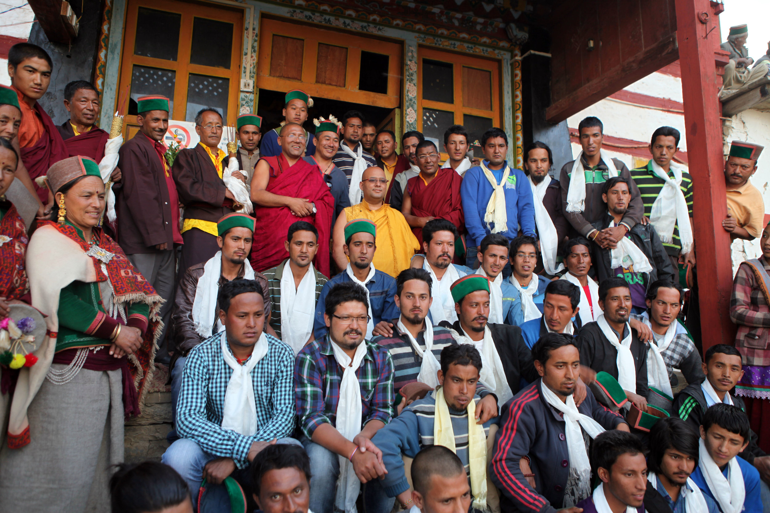 Choegon Rinpoche posted with some of the DCM members of the Himalayan.jpg