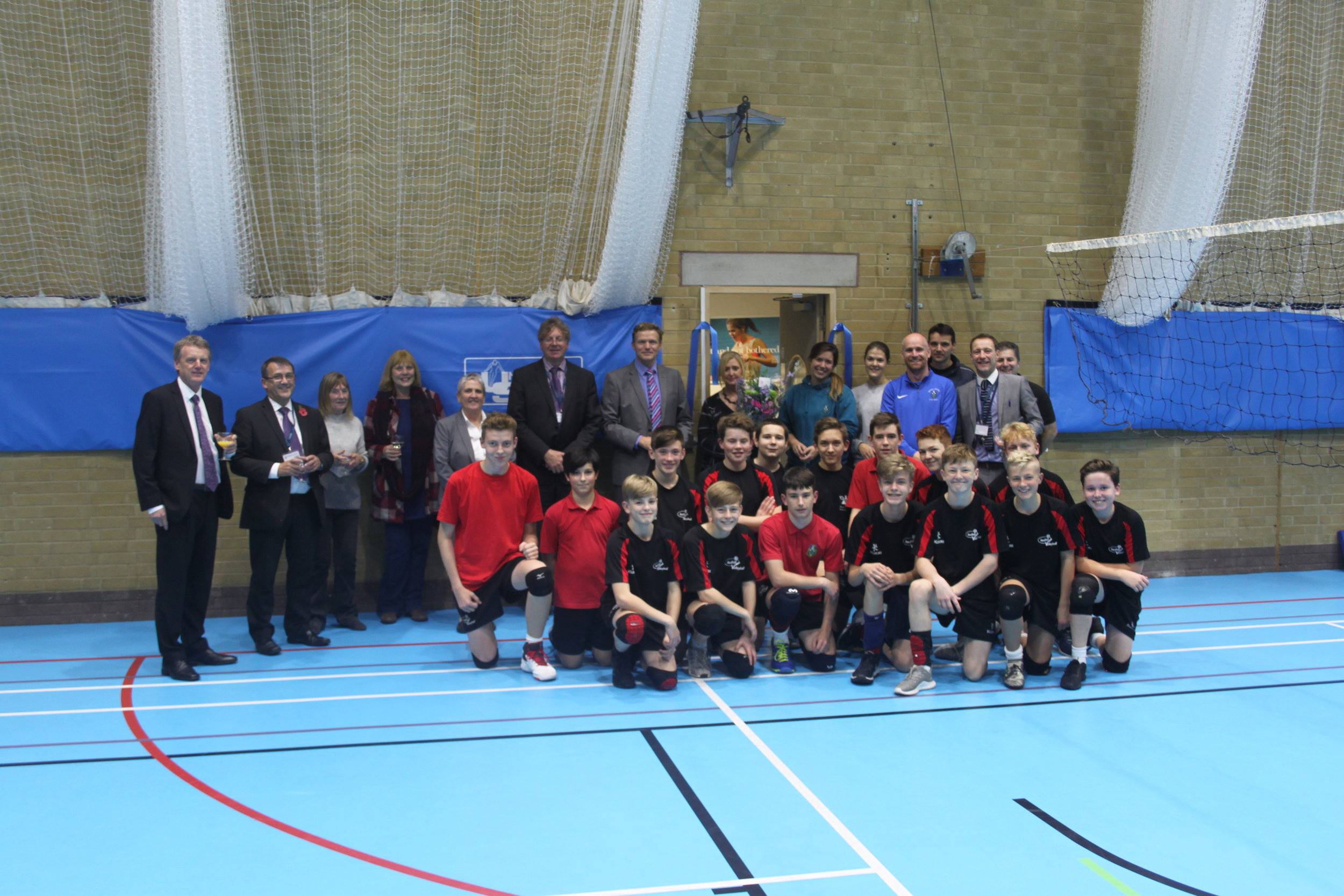 The opening of our new sports hall