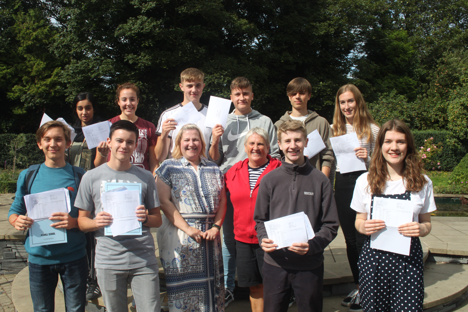 Top Achievers with Head of Year and Headteacher