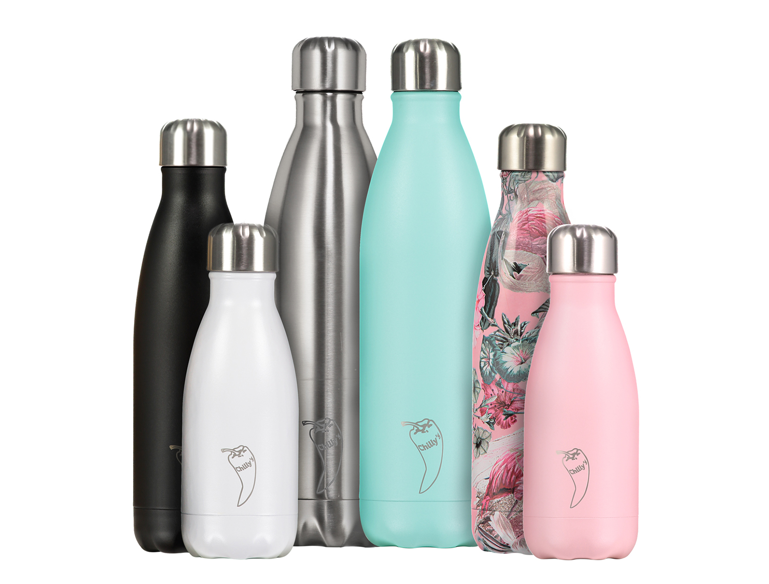 These Chilly's Bottles were all shot independently which is why the light reflections are the same on all of them