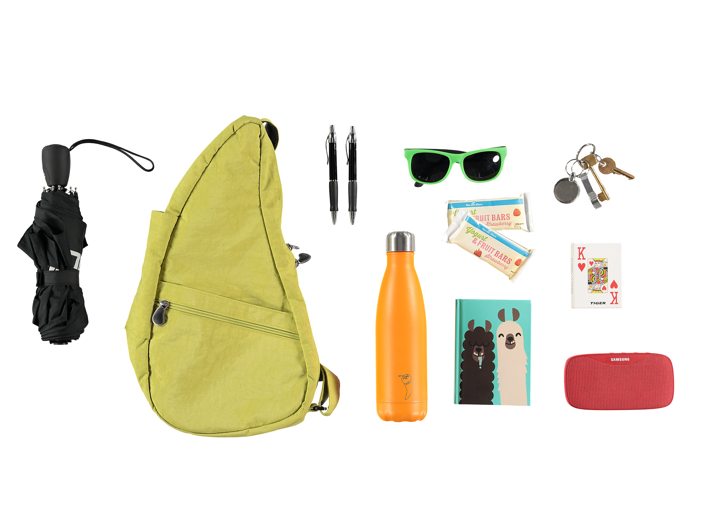Here's a knolling using a Healthy Back Bag