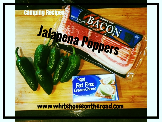 Easy Appetizers- Camp fire Jalapeno Poppers.