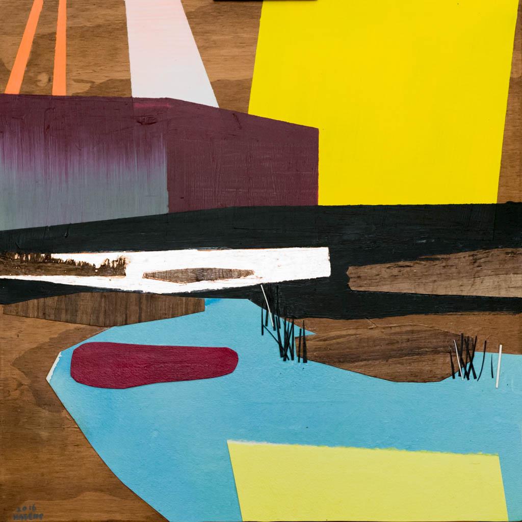 ESPO Award 2016 | Bremenports | 60 x 60 cm | Paper, Acrylic paint, gold leaf on panel |  Sasja Hagens.jpg