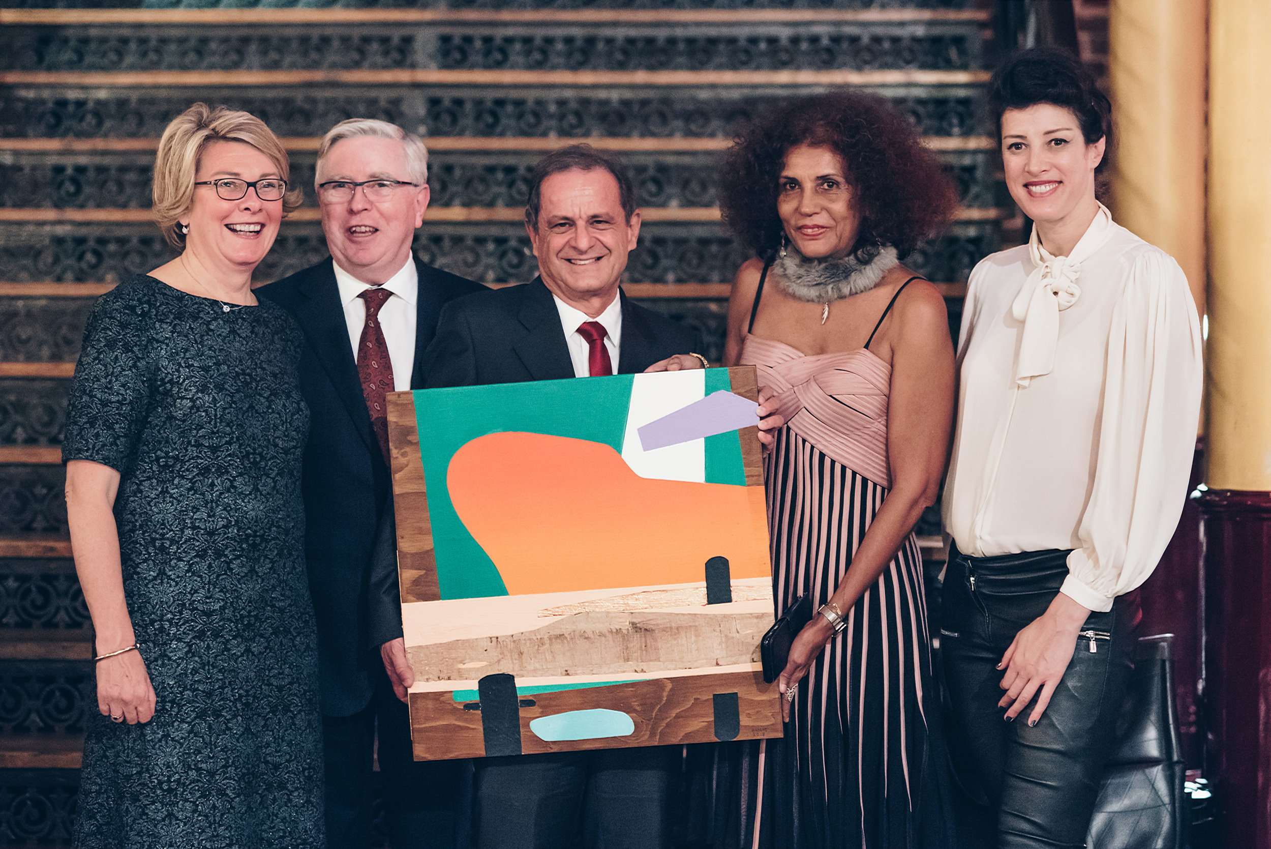From left to right: Isabelle Ryckbost (ESPO), Pat Cox (chariman Jury ESPO Award), Philippe Kalil (Guadeloupe), Viviane Francois-Julien (Guadeloupe ) and me (design ESPO Award).