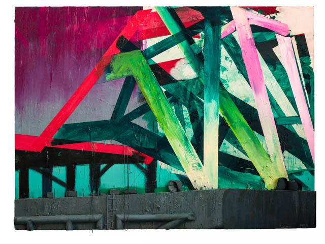 Craneship | 170 x 230 cm | Mixed media