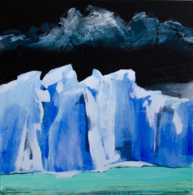 Kalypso #4 | 100 x 100 cm | Acrylic paint and emulsion on canvas