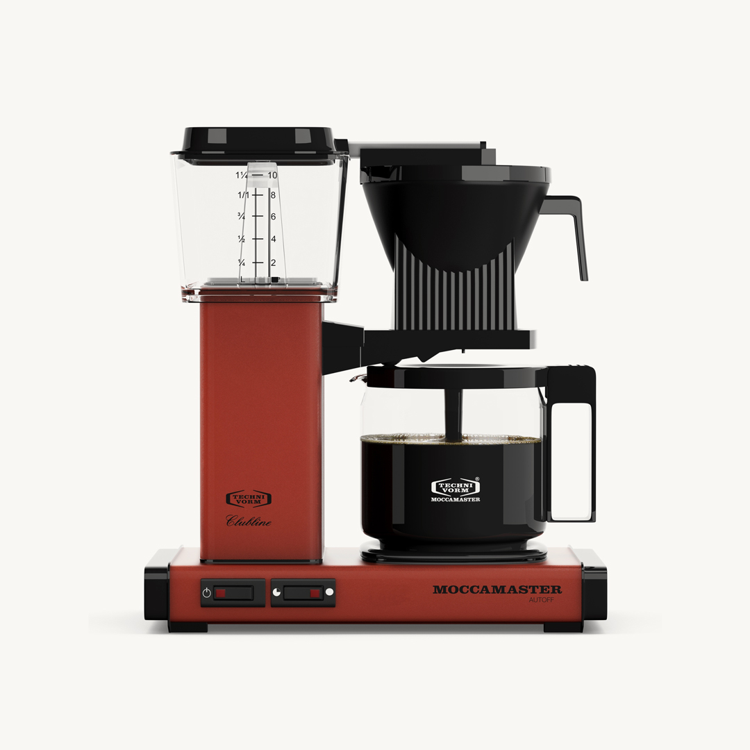 At home. - You shouldn't limit yourself as to how you enjoy your morning cup of coffee at home, which is why we encourage you to improve your filter coffee brewing process with a fine Moccamaster machine, or, if you're into espresso-based drink, a super-automatic machine.
