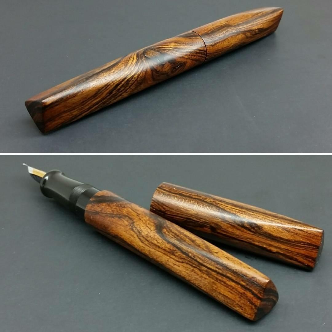 Newton Pens Prospector - Bocote wood with Fuki urushi finish.