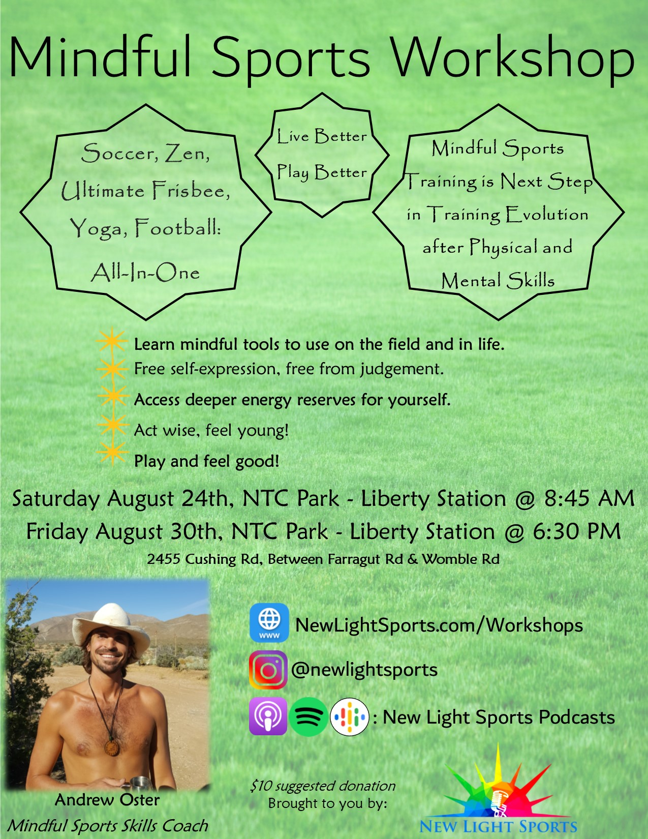 August Workshop Flier