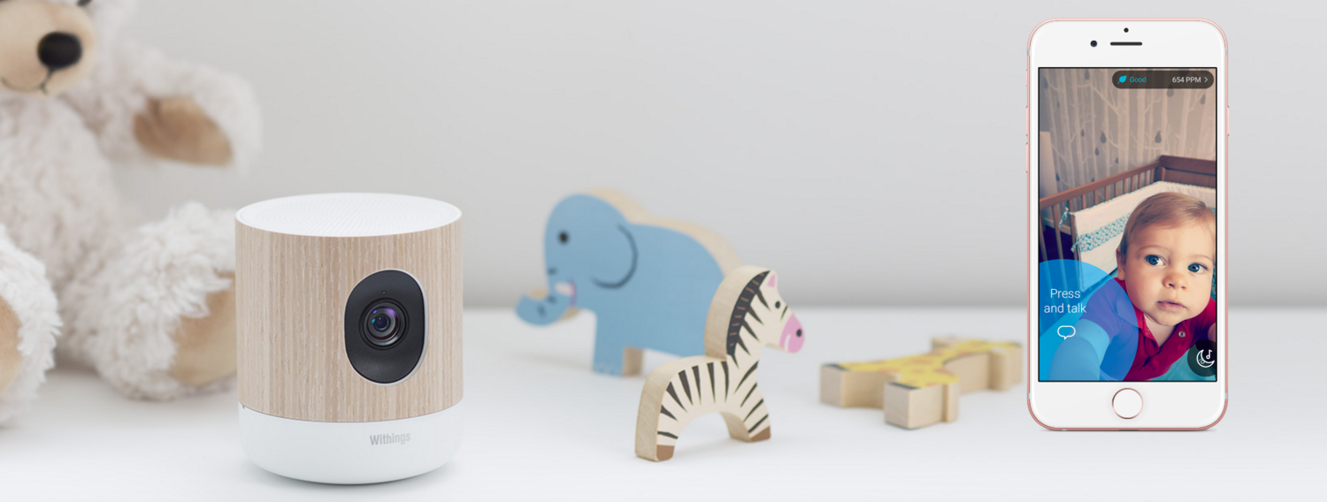 Babymonitor med Withings Home