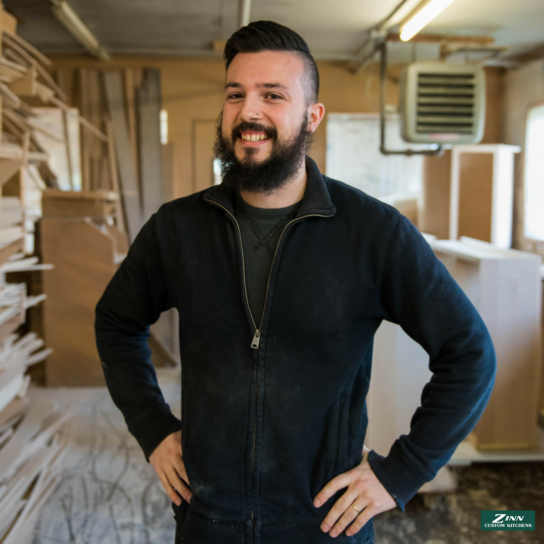 Sam - You can find Sam in our drawer department making sure every drawer and pullout is built with excellence and as envisioned by our clients.