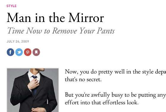 Urban daddy  Man in the Mirror: Time Now to Remove Your Pants