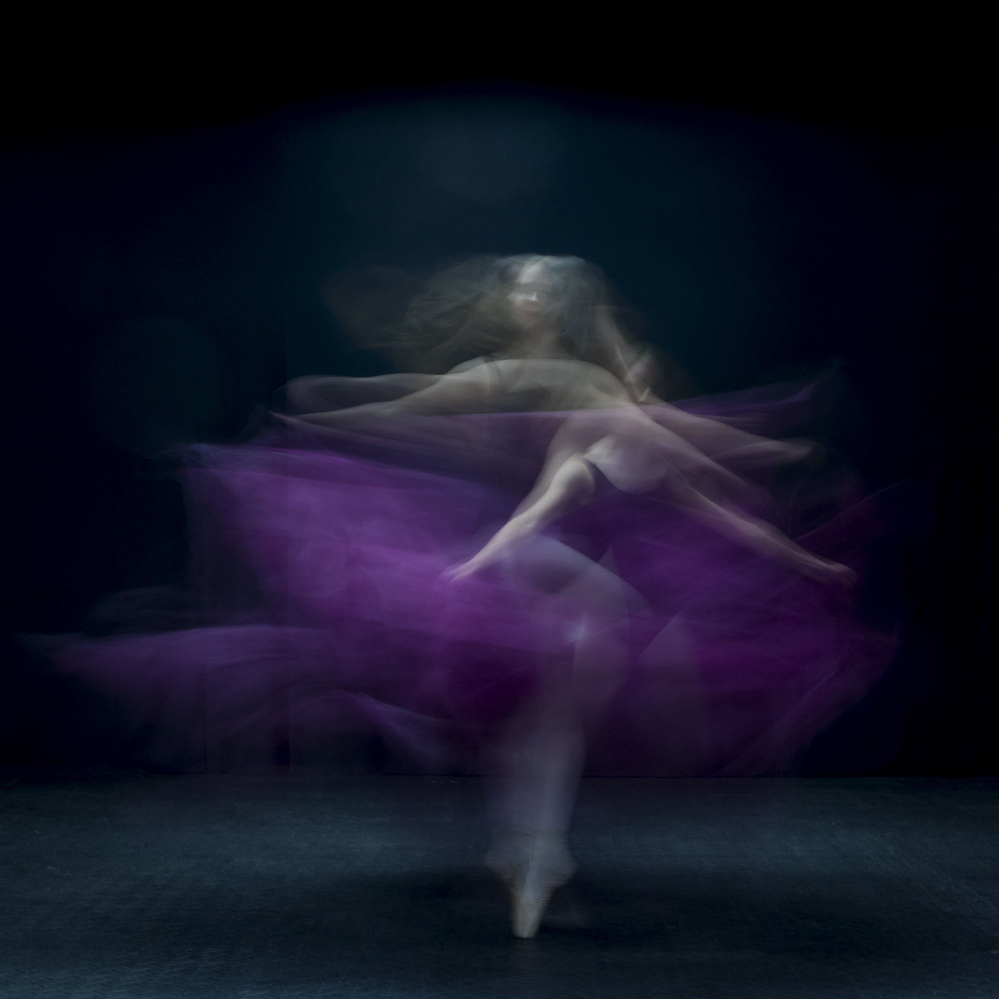 Long exposure twirl with fabrics