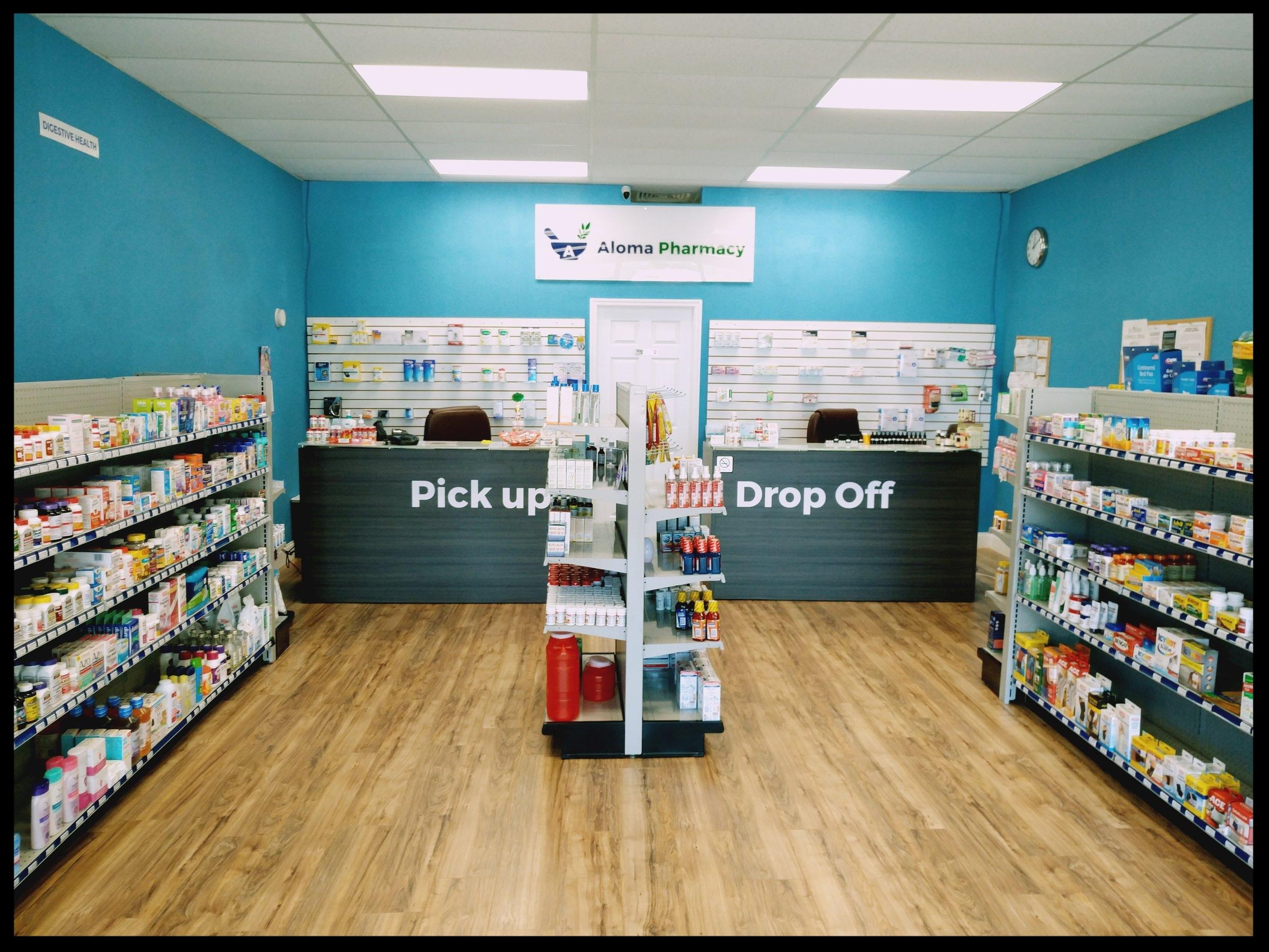 Inside Aloma Pharmacy