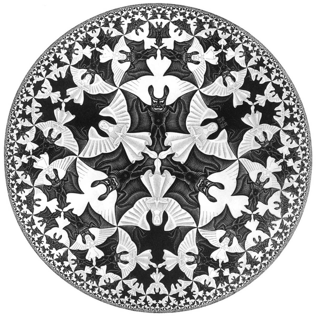 Maurits Cornelis Escher's  Angels and Devils