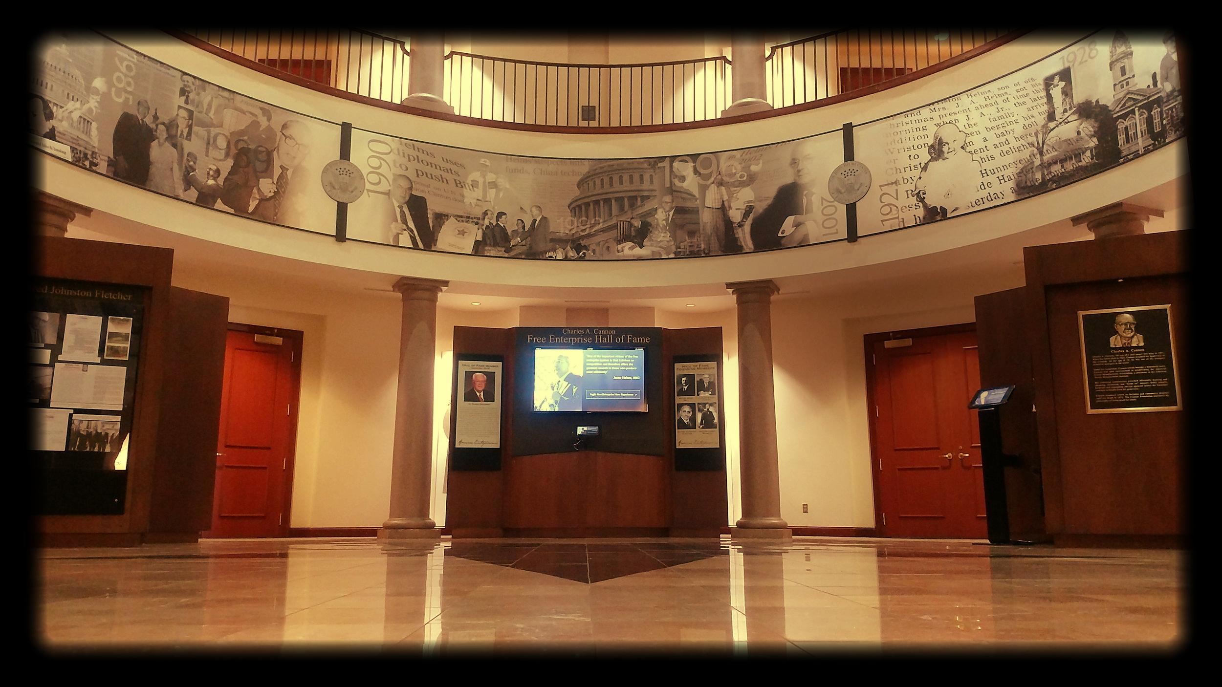 In 2001, The Jesse Helms Center opened the Charles A. CannonFree EnterpriseHall of Fame to honor the men and women dedicated to America's free enterprise system. -