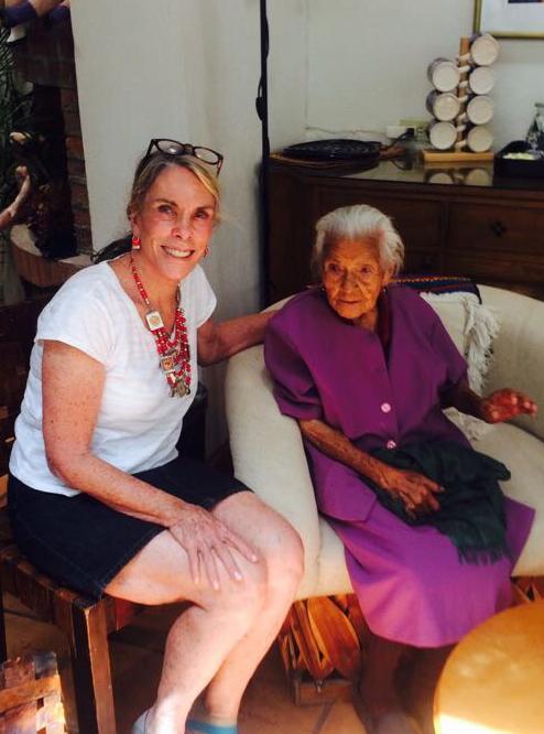 Barbara Poole with María Dolores