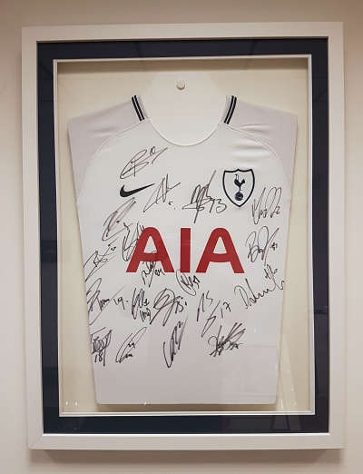 framed signed tottenham hotspur shirt