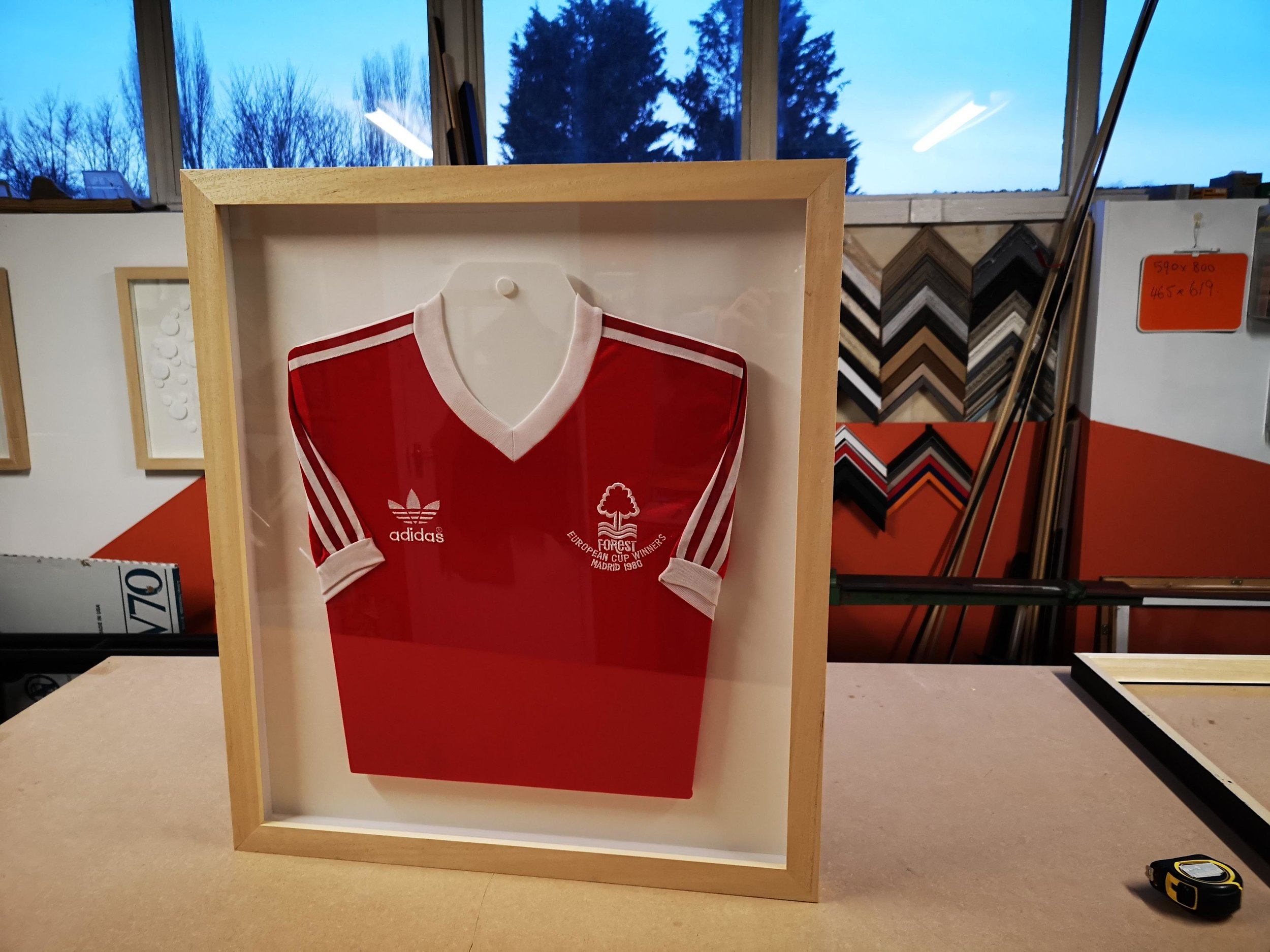 nottingham forest football club european winners shirt framed