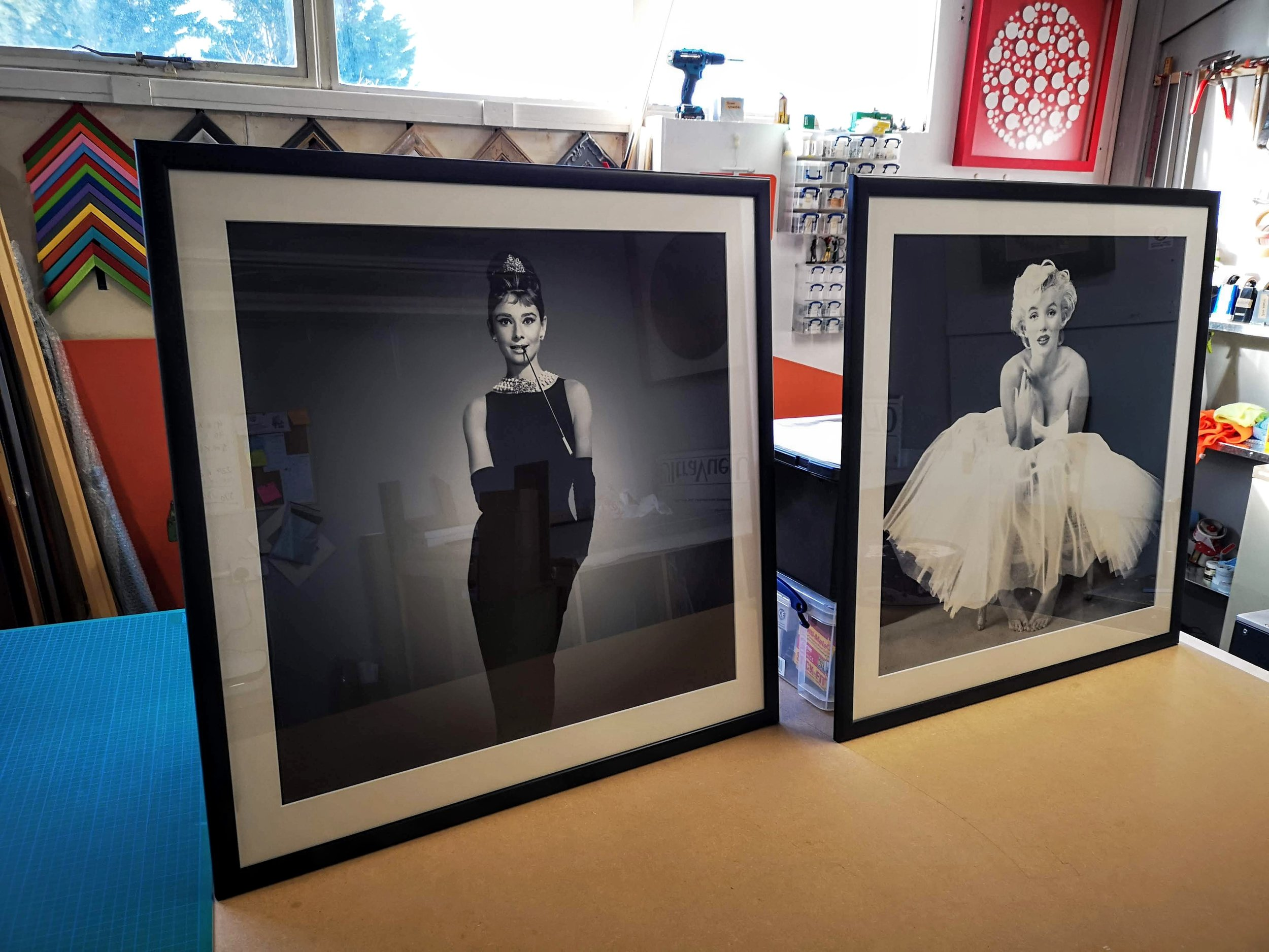 audrey hepburn marilyn monroe prints framed