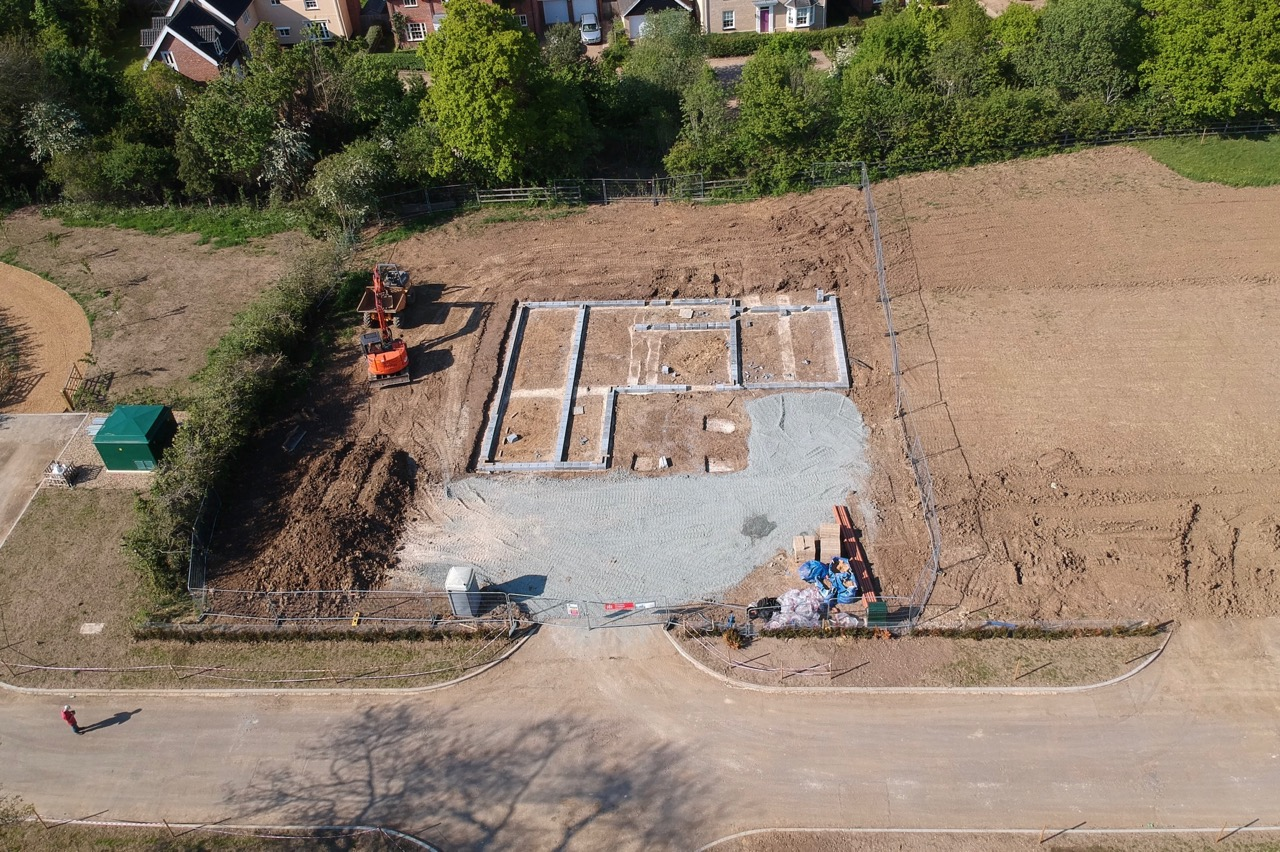 Plot 15 now underway. 21st May 2019
