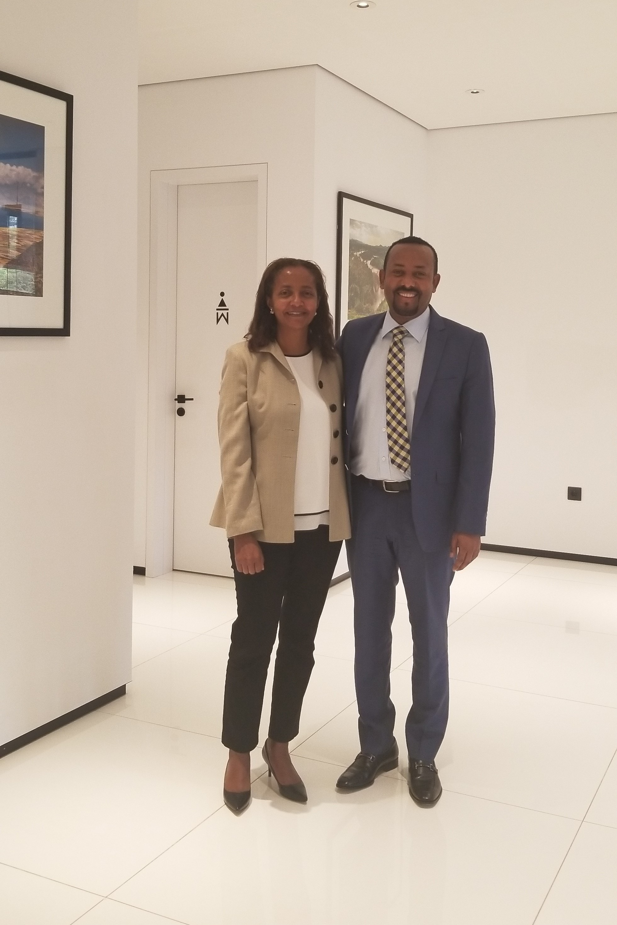 Rebecca with Prime Minister Abiy