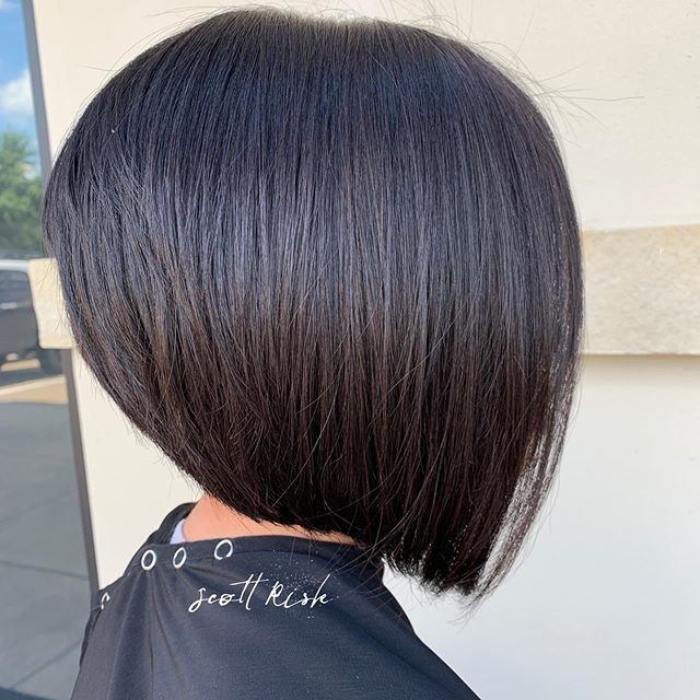 Perfect Layered Bob #bob #haircut #bobhaircut #shorthair #shorthairstyles #brunette #dallashairstylist #dallashairstylist #modernsalon #friscohairstylist #hairstyle #hairbrained