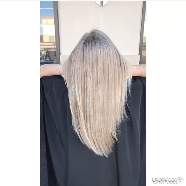 Turned this out-dated brass into a beautiful, seamless cool blonde. Swipe for more after & before pictures! #balayage #blondehair #hairstylist #highlights #blondehighlights #hairstyles #blondestyles #coolblonde #dallashair #dallasblonde #dallastx #ombre #lowlights #behindthechair #modernsalon #longhair #superlonghair #superblondehair