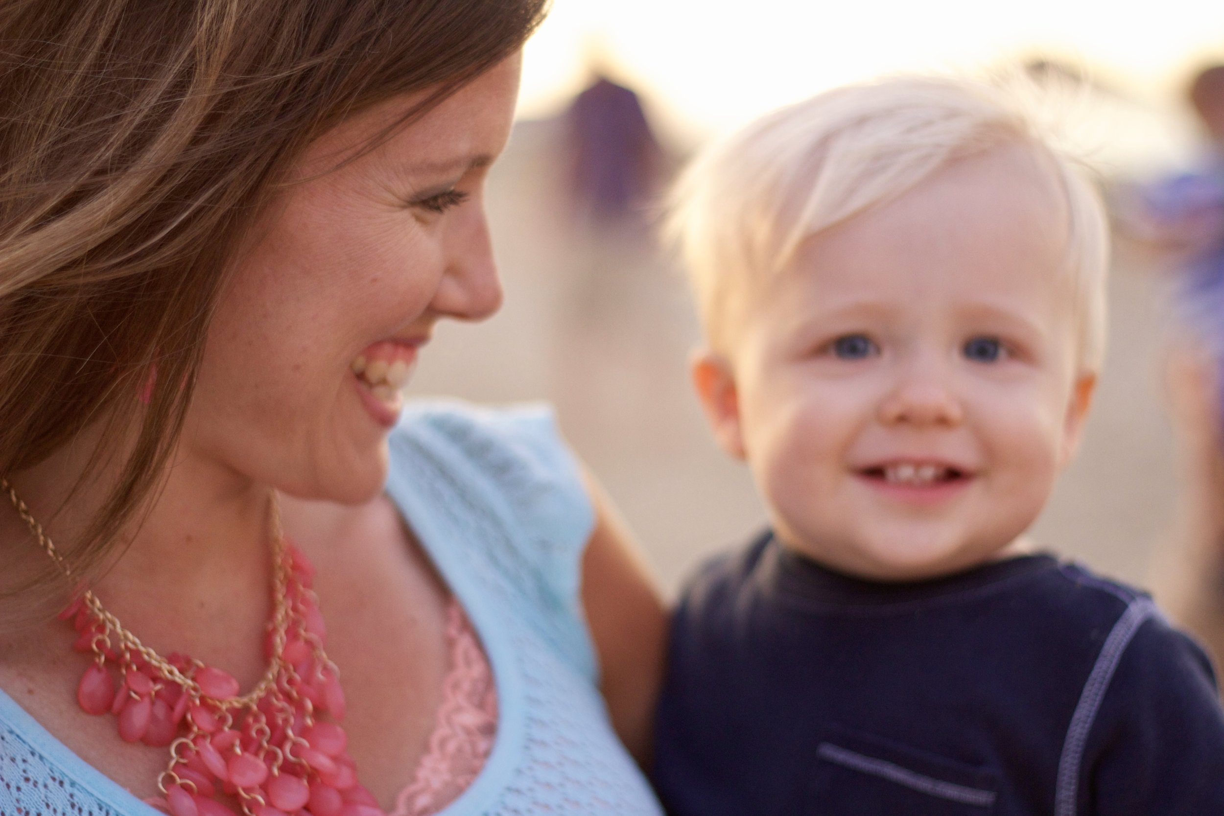 Choosing to see my baby's sweet face -a favorite memory from when he was just a toddler