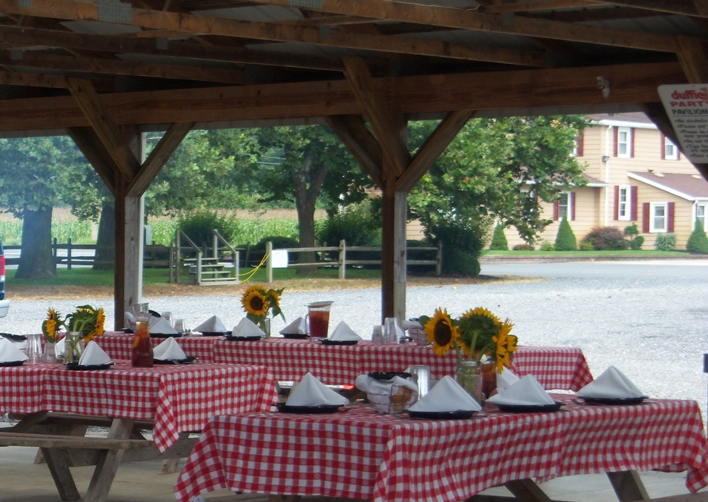 Event Rental #5   $200 rental fee for a two-hour time slot includes 1/4 section of pavilion space rental only. Bring your own decor.  Contact us for event tips, party food orders, celebration cakes, baked goods and other party needs.