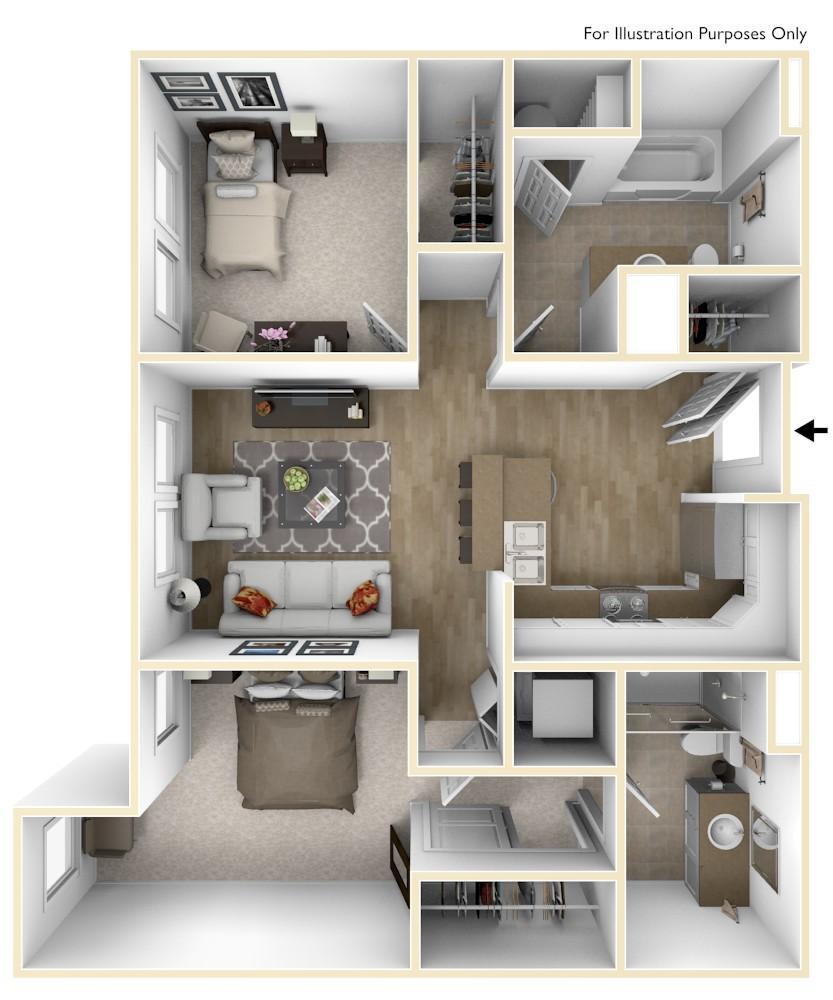 B2   2 Bedroom   951 Square Feet