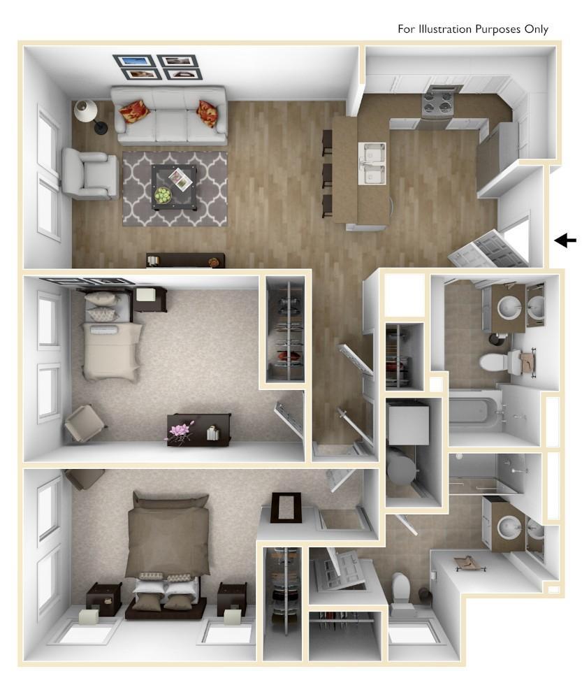 B3   2 Bedroom   951 Square Feet