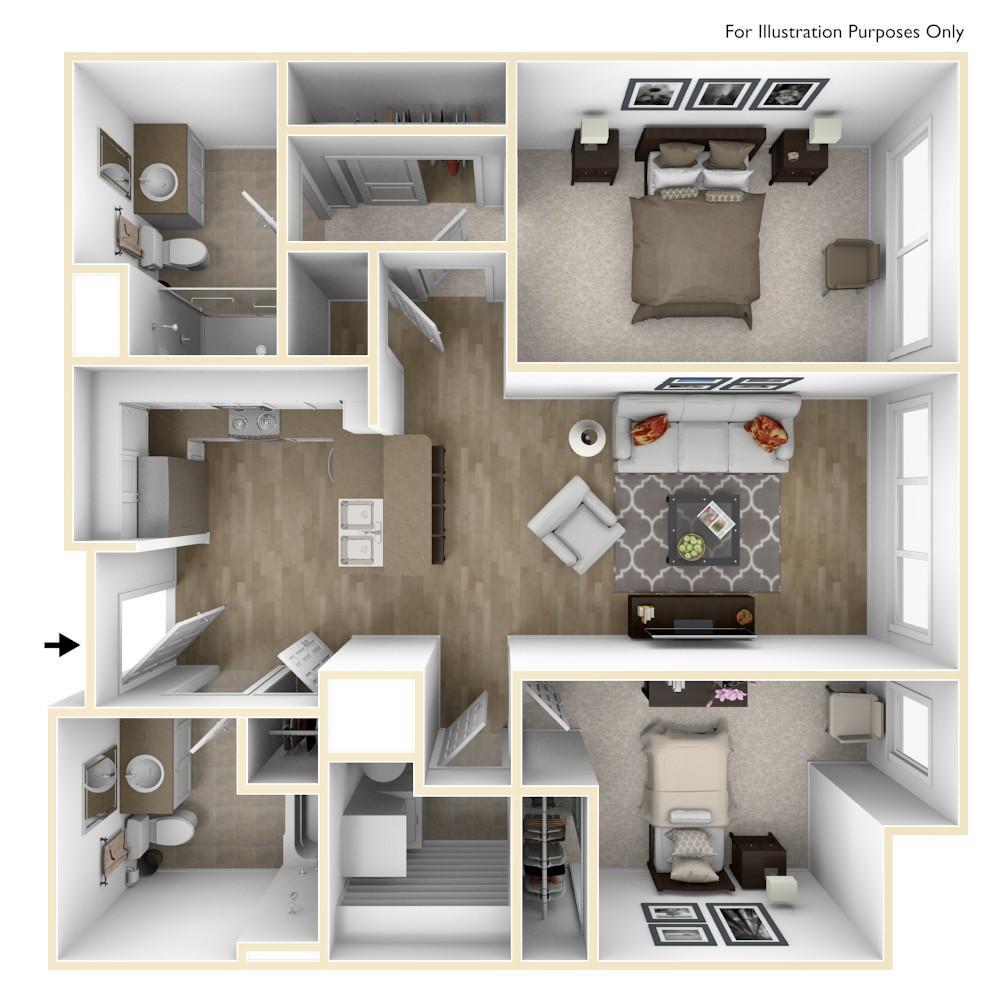 B5   2 Bedroom   949 Square Feet