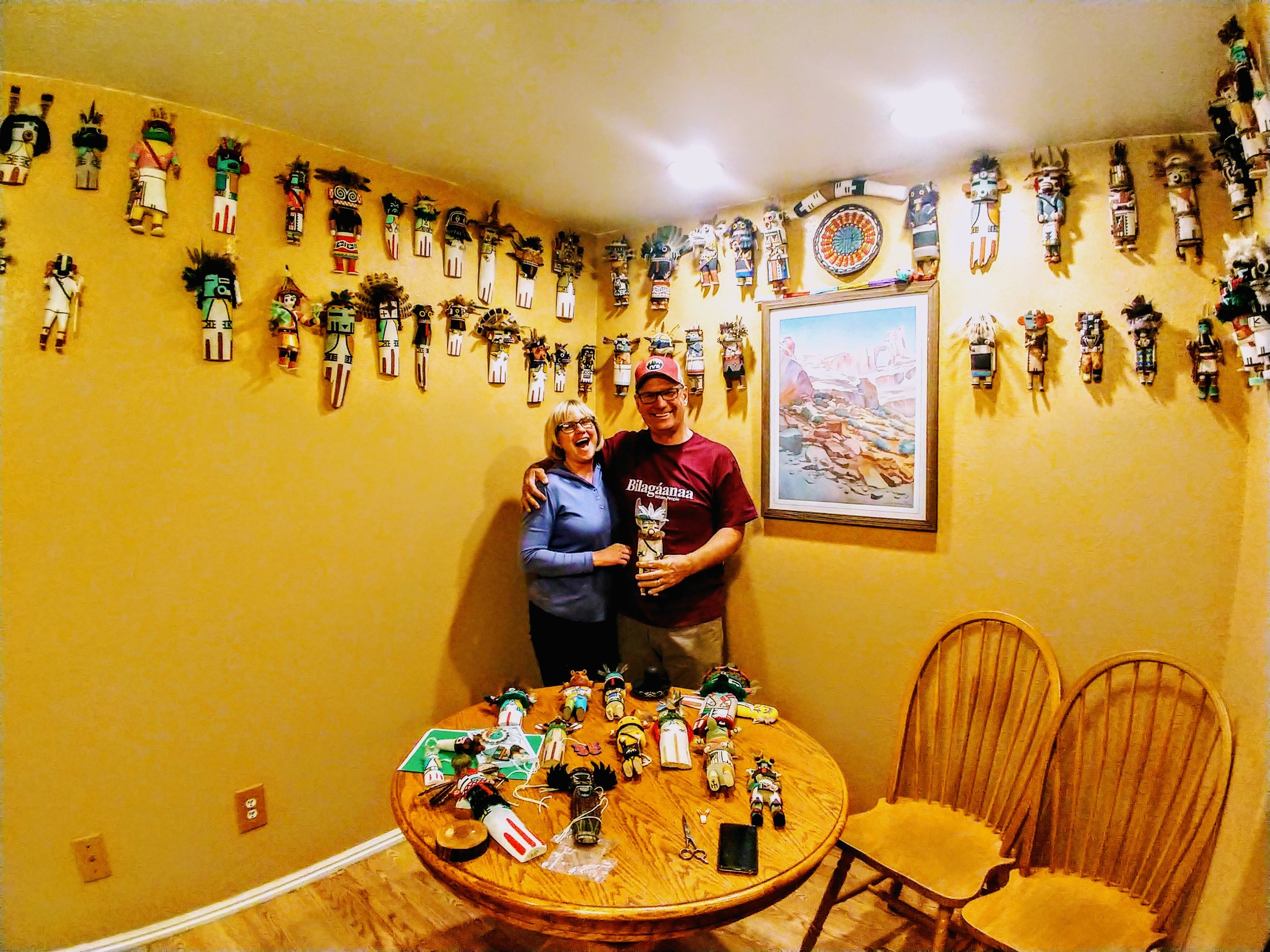Margie, Tom and many Kachinas!
