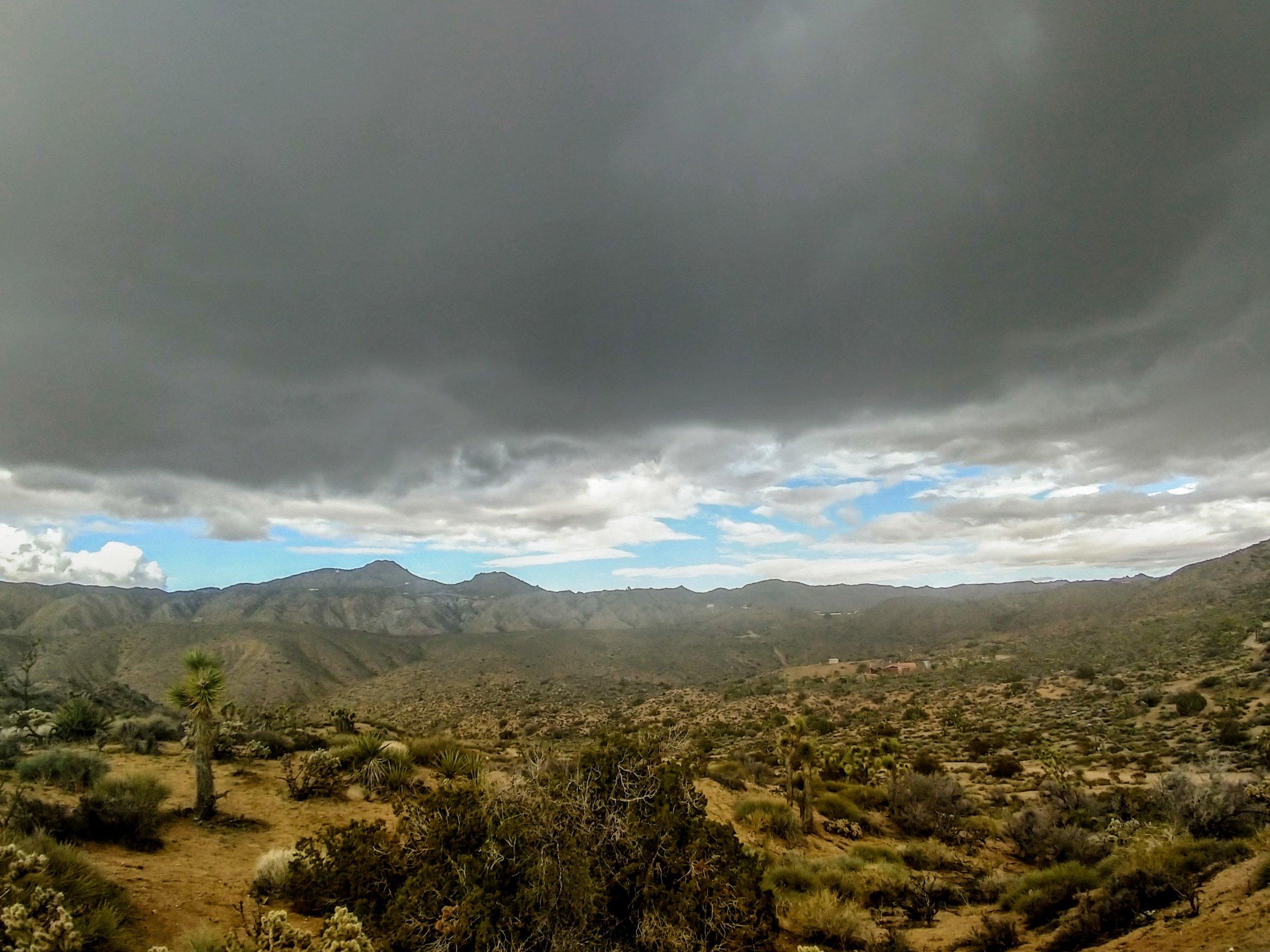 Rain clouds - Yucca Valley, CA