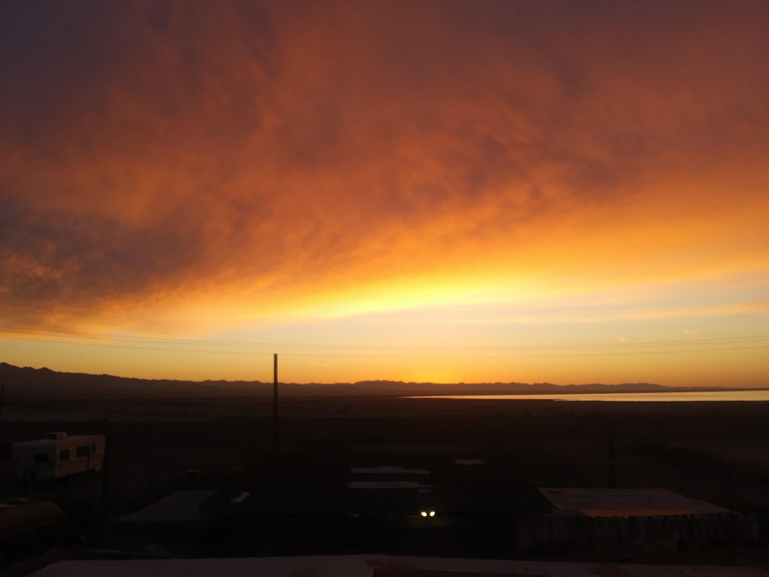 Sunrise on the Salton Sea from Bombay Beach, CA