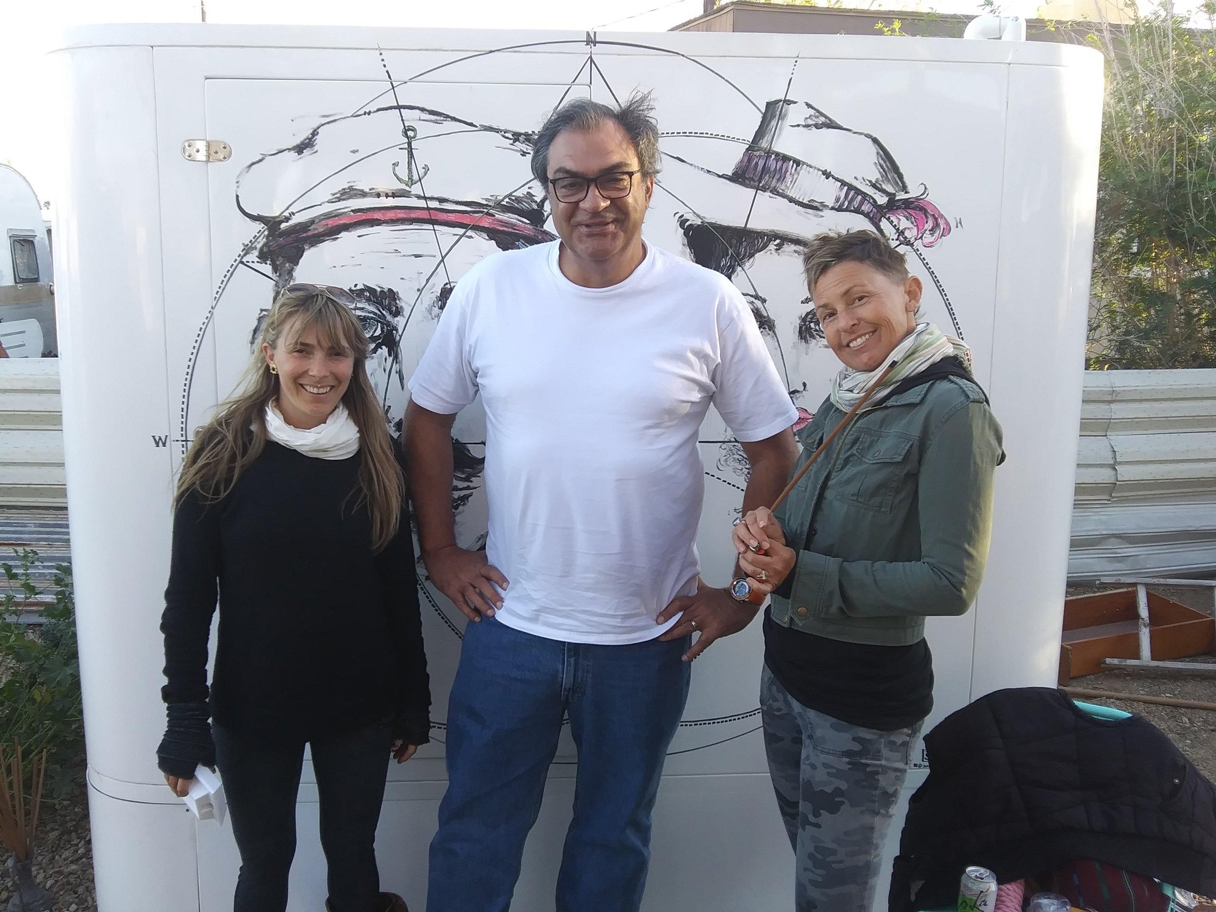 Mary Beggio,  Ricardo Serpa  and  Jane Maru.