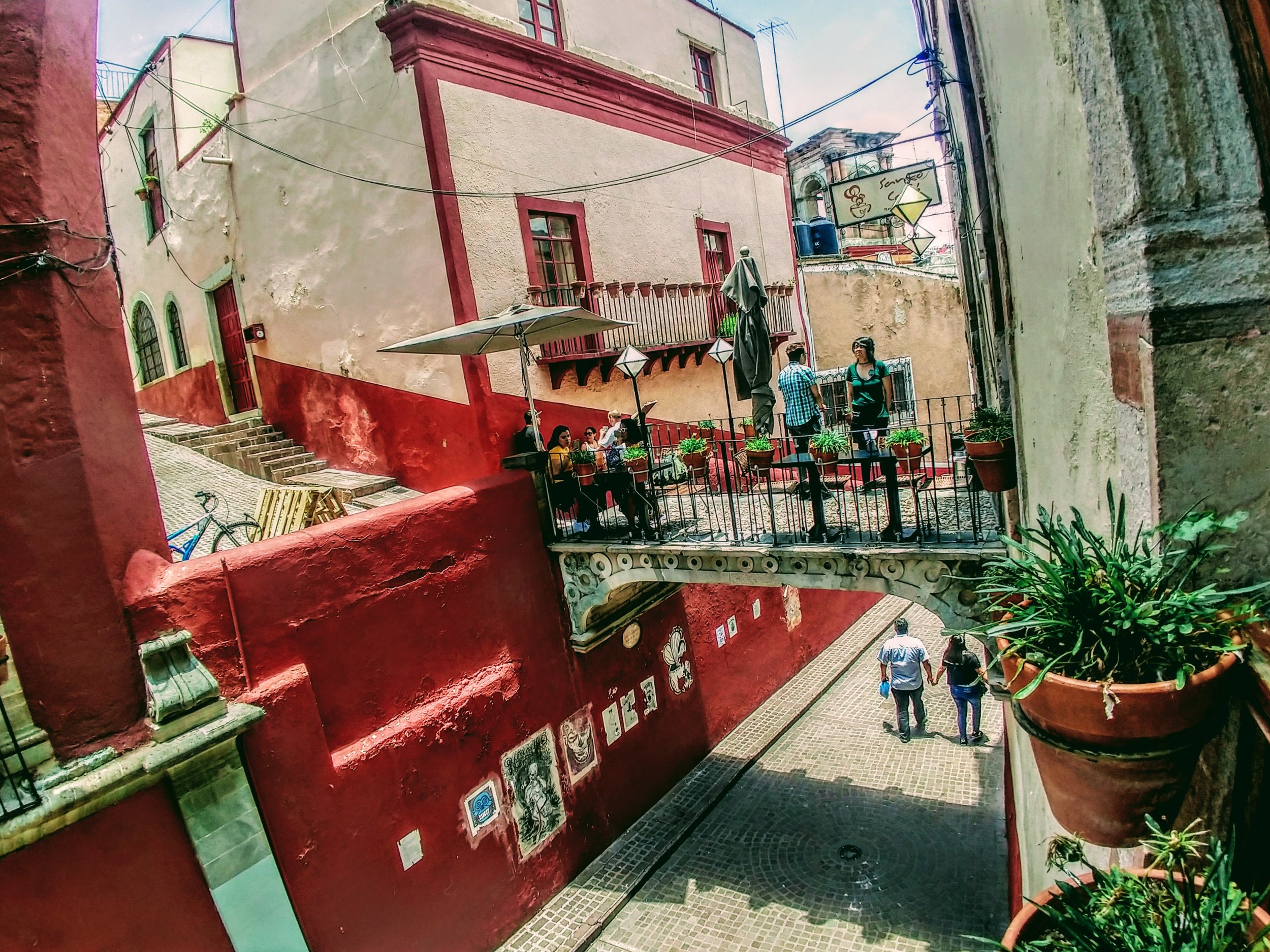The most frequently photographed cafe in Guanajuato.