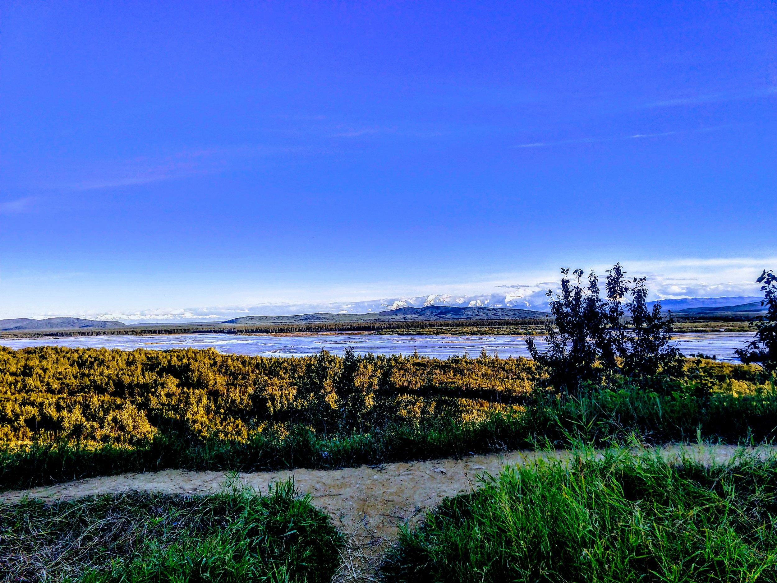 Somewhere between Fairbanks and Tok, AK