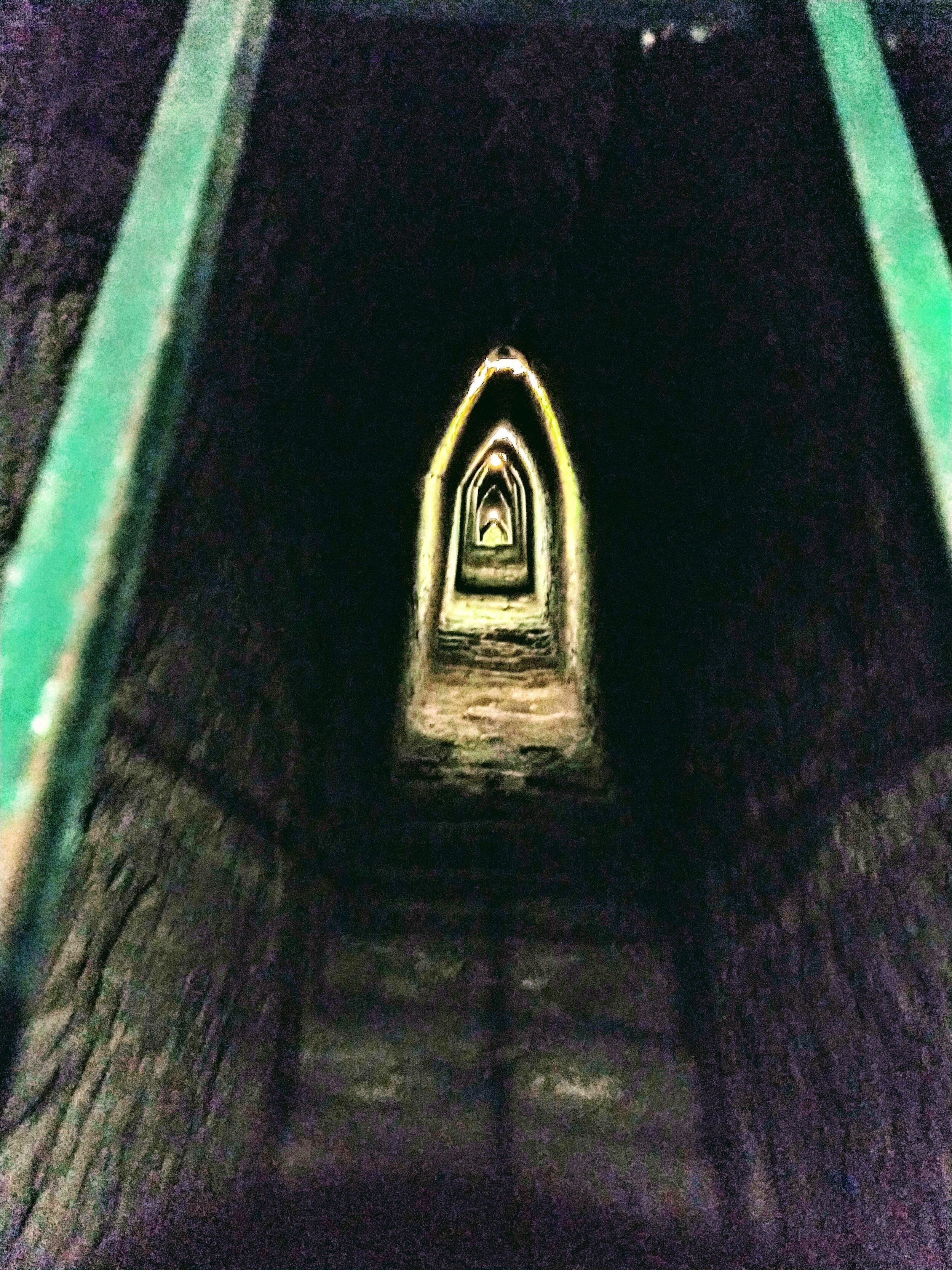 Tunnels under the pyramid in Cholula, MX