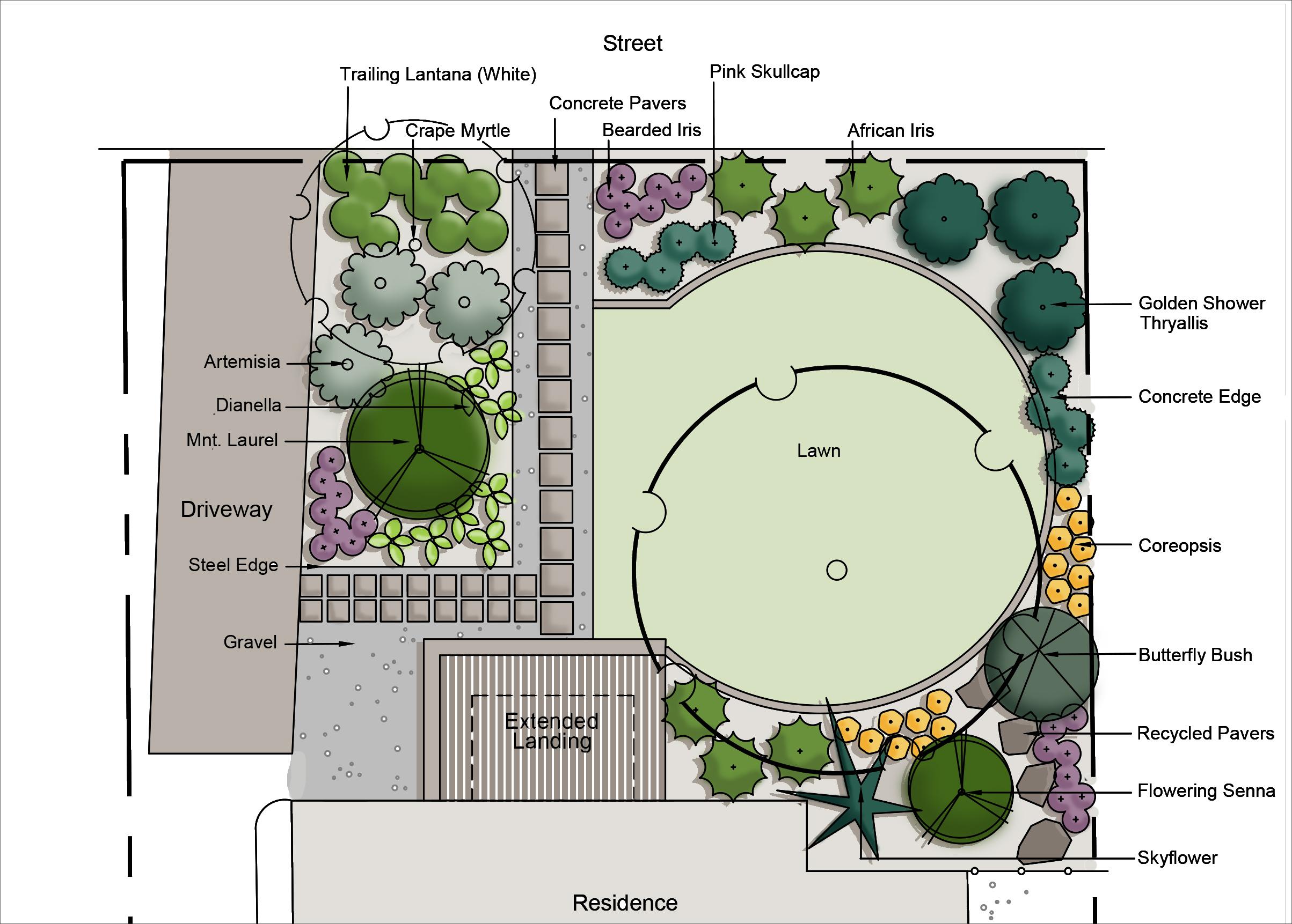 Conceptual Plan for Front Yard Landscape