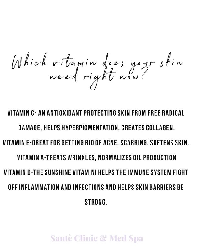 Just a few vitamins your skin LOVES. Try and incorporate them into your daily routine for healthier skin 💛