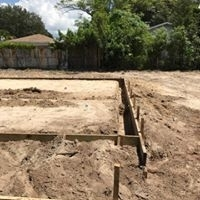 batter boards for footer prep to pour  -