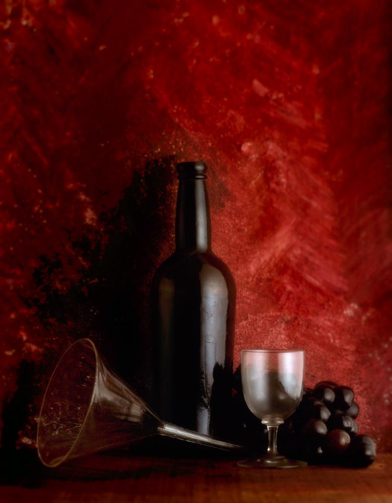 port bottle, grapes and glass funnel...102.jpg